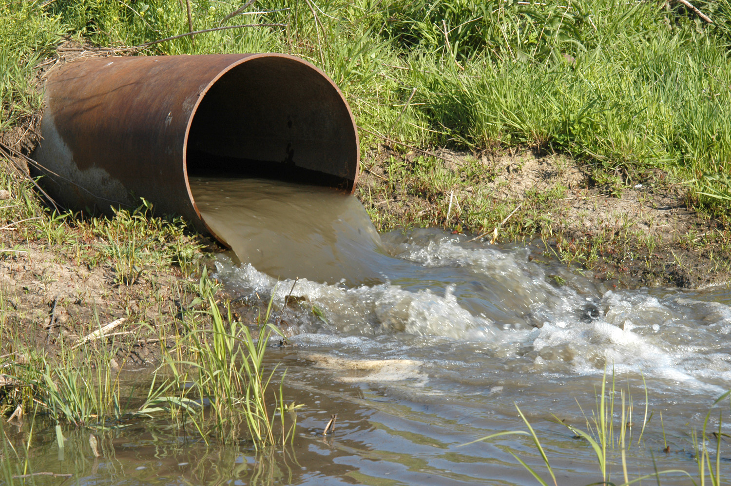 Wastewater discharge pipe by USDA NRCS