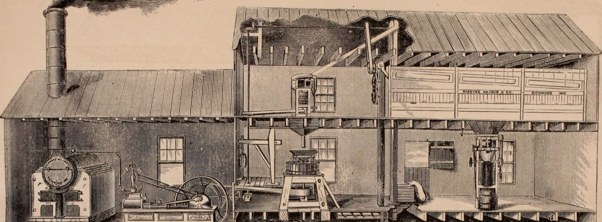 Early Feed Mill in Richmond 1873